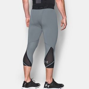 NEW UNDER ARMOUR MEN WHITE COMPRESSION COOLSWITCH 3//4 LEGGING PANTS SZ 3XL